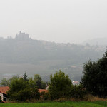 Château de Bouzols dans le brume
